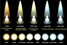 Nhiệt độ màu của ánh sáng đèn
